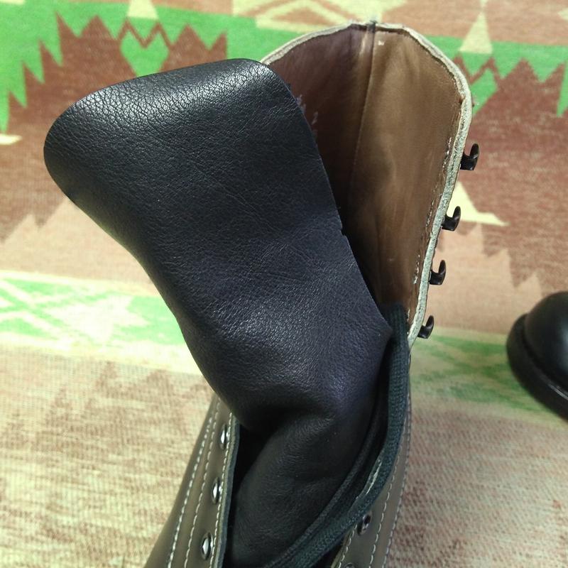 ほぼ未使用【FOOT-SO-PORT】80s ワーク ブーツ 黒 8D プレーントゥ 革内張り Supreme★ビンテージ フットソーポート レザー 50s60s70s90s_画像7