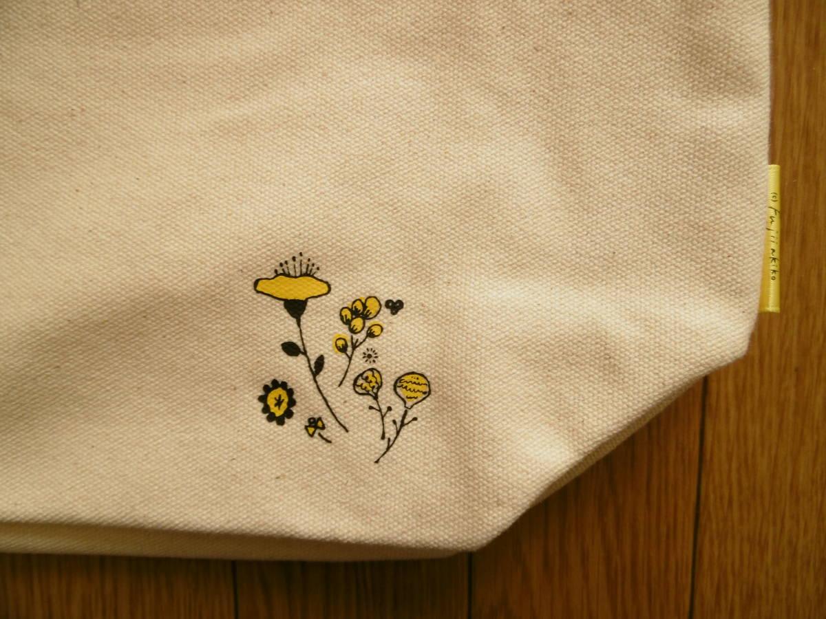 アエ イウ エオ アオ ミニ トートバッグ (クマ) くまさんとお花 フラワー くま_画像3