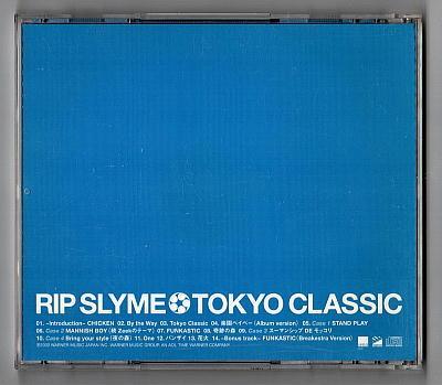 ○Rip Slyme/Tokyo Classic/CD/楽園ベイベー/One/Funkastic/KJ/降谷建志/Breakestra/Ryo-Z/DJ Fumiya/Pes/Ilmari_画像2