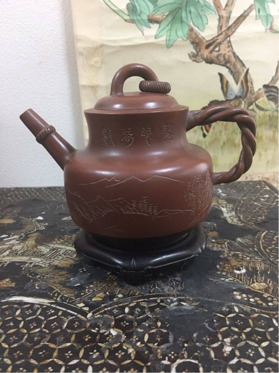 古玩 紫砂 煎茶道具 中国 茶壷 唐物 紫泥 急須 貴重 _画像2