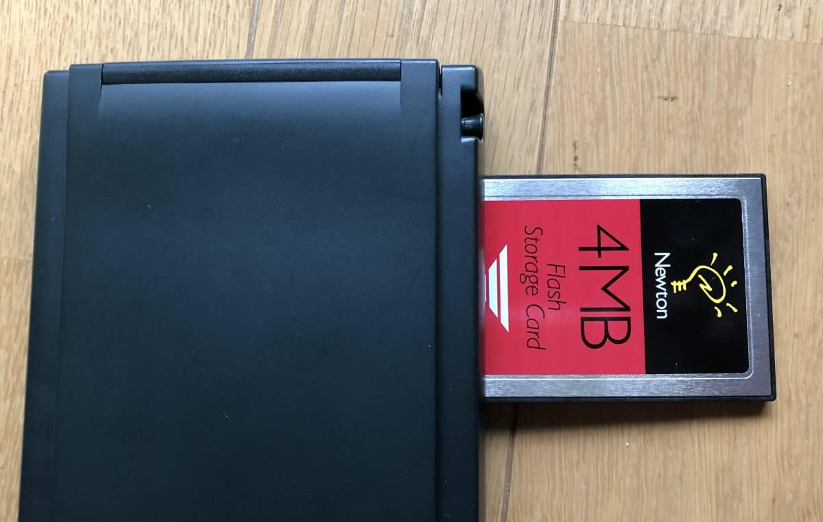 Apple Newton MessagePad 130 ACアダブタ 動作品 4MBメモリーカード付き_画像10