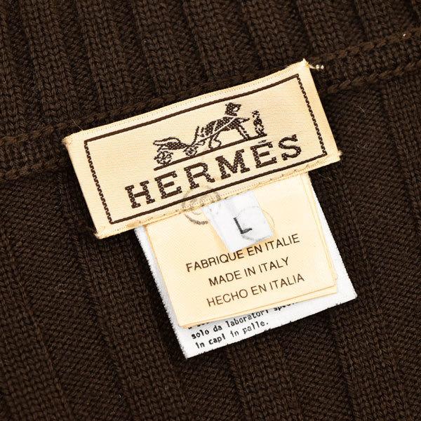 リッチな羊革レザー&カシミヤ使い◎!!!「HERMES/エルメス」定価40万 極柔らかい最高級羊革×カシミヤニットを贅沢に使用した!ジャケット_画像9