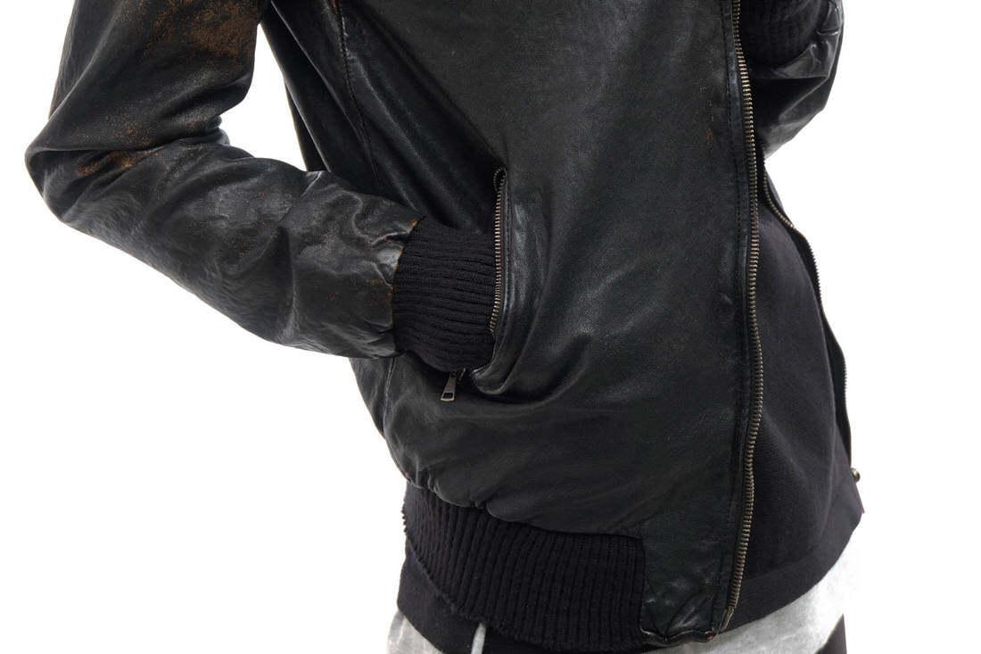 GIORGIO BRATO ジョルジオブラット シングルライダース ジャケット ラムレザー 子羊革 Organic Edition リブ 46 イタリア製 j2783_画像6