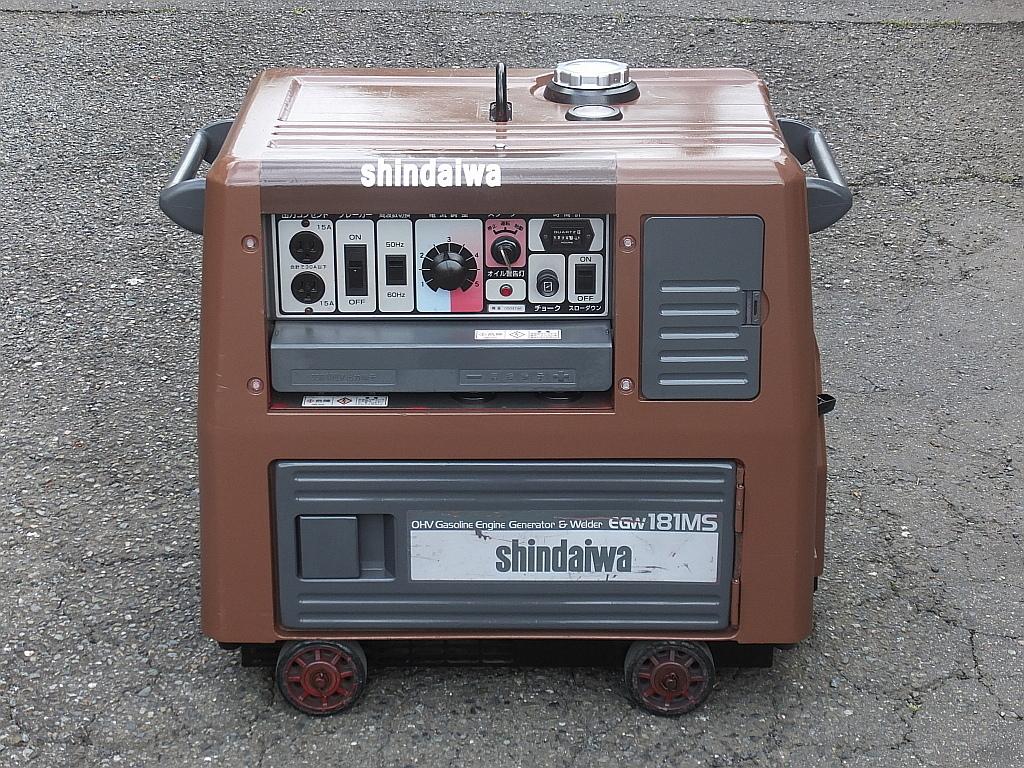新ダイワ□EGW-181MS□防音型□発電機□溶接機