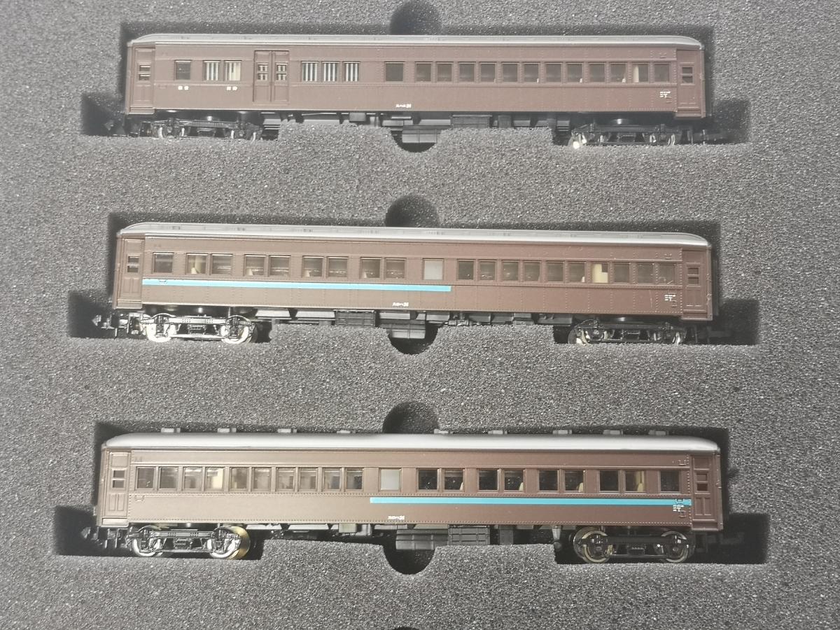 モデモ NS102 国鉄20m級旧形客車 急行列車 基本車両セット MODEMO スハ32 スハフ32 スハニ31 スロハ31 ダブルルーフ_画像3