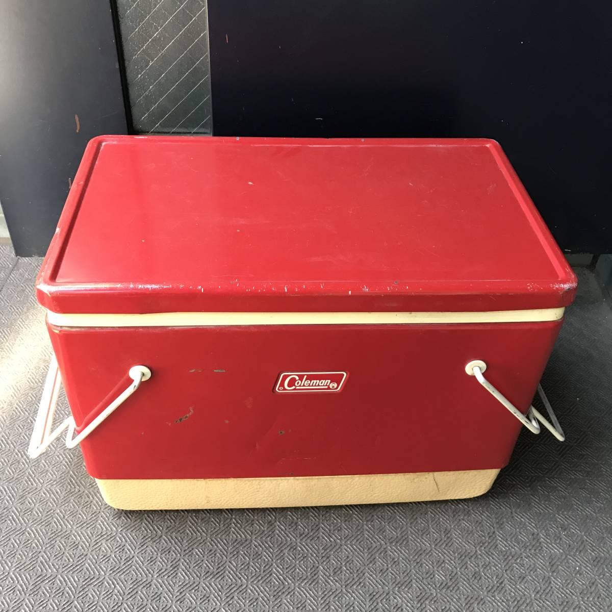 貴重!60's~70's COLEMAN ヴィンテージ USA 赤 コールマン クーラーボックス/70'sジャグキャンプアメリカアンティーク西海岸ガレージ_画像7