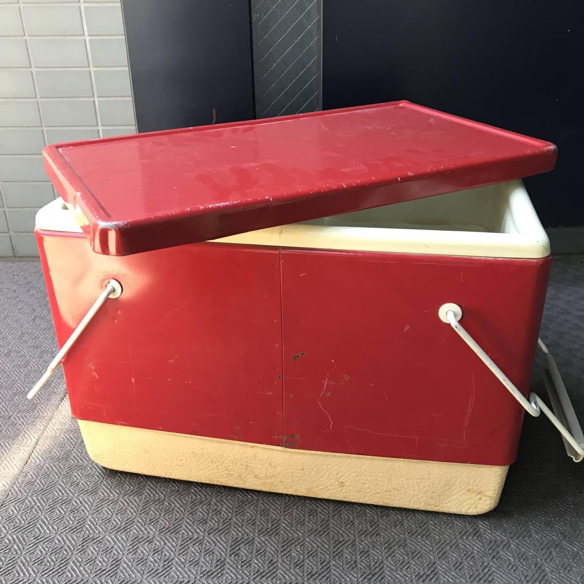 貴重!60's~70's COLEMAN ヴィンテージ USA 赤 コールマン クーラーボックス/70'sジャグキャンプアメリカアンティーク西海岸ガレージ_画像9