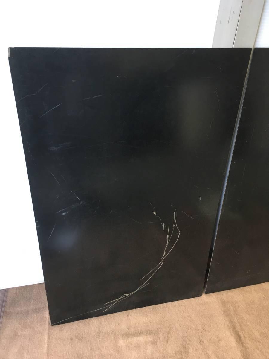 ●B7 引取歓迎 プラスチック板 黒 2枚 51.5x79.5x厚み0.2cm 端材 樹脂素材 切削加工用に 管理:1F_画像3