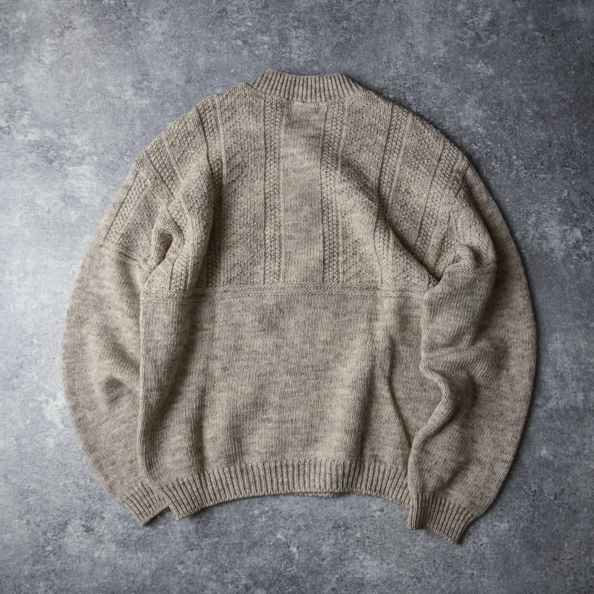 希少 80s L.L.Bean スコットランド製 ショールカラー ニット セーター 杢ウール / ビンテージ エルエルビーン フィッシャーマン 70s 90s_画像2