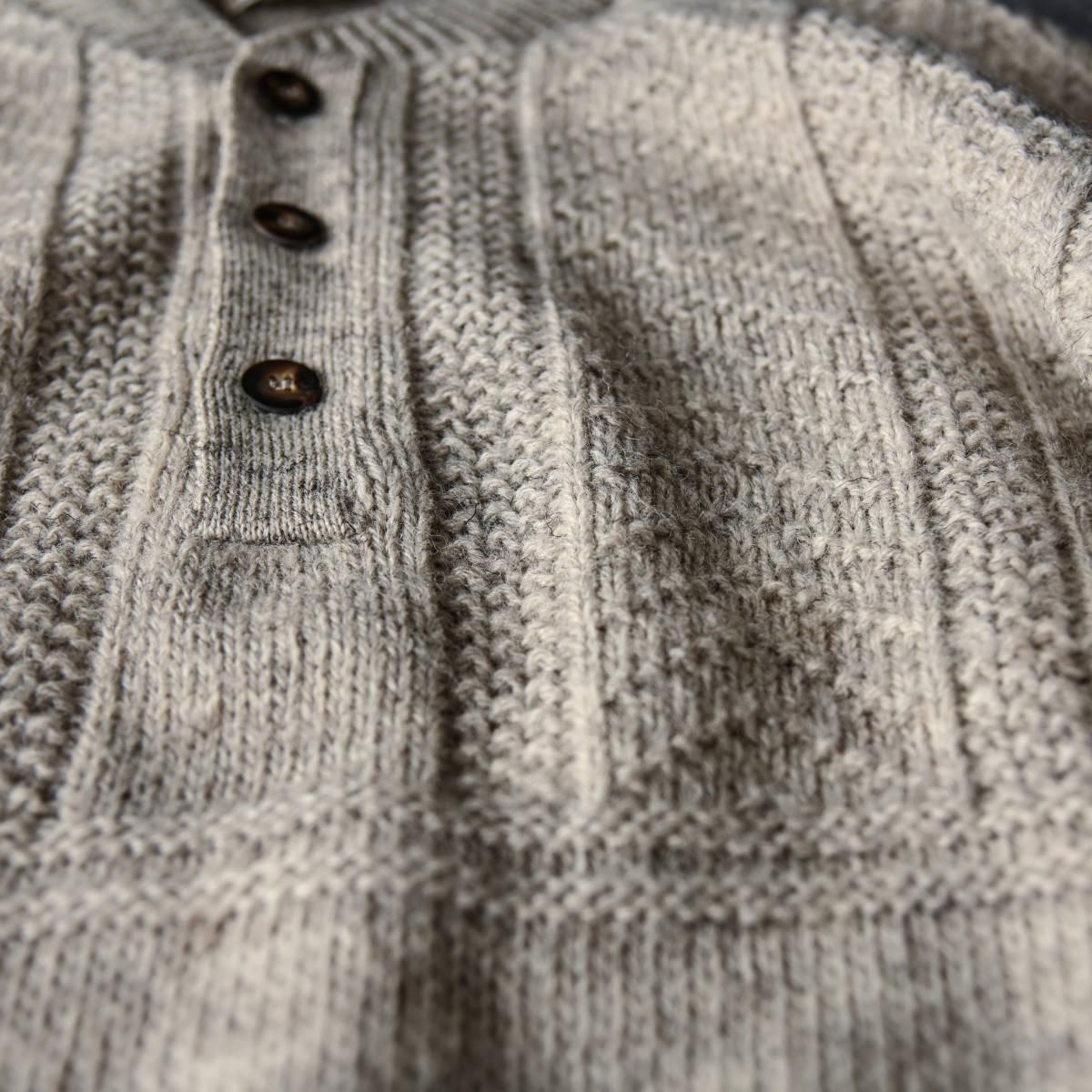 希少 80s L.L.Bean スコットランド製 ショールカラー ニット セーター 杢ウール / ビンテージ エルエルビーン フィッシャーマン 70s 90s_画像5