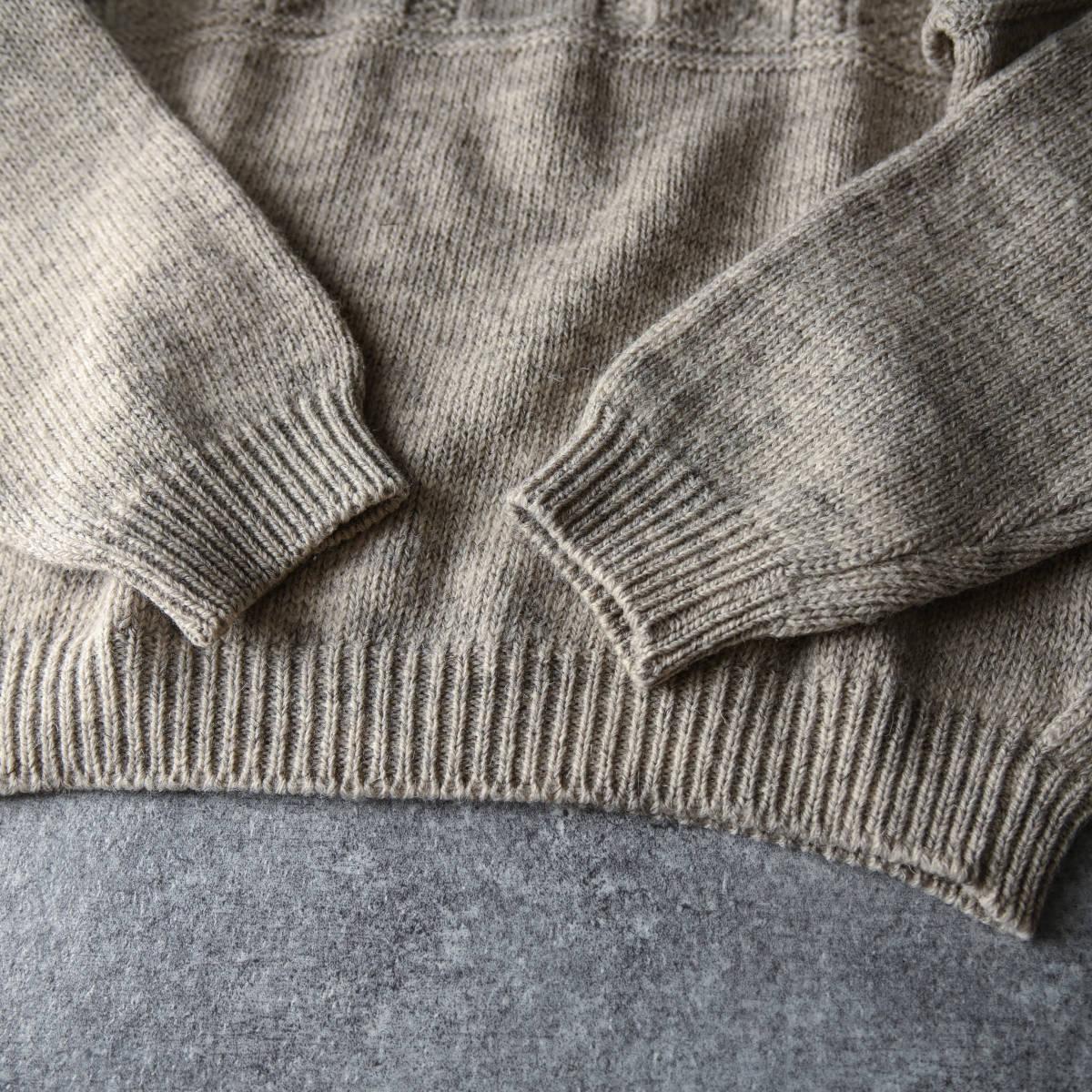 希少 80s L.L.Bean スコットランド製 ショールカラー ニット セーター 杢ウール / ビンテージ エルエルビーン フィッシャーマン 70s 90s_画像6