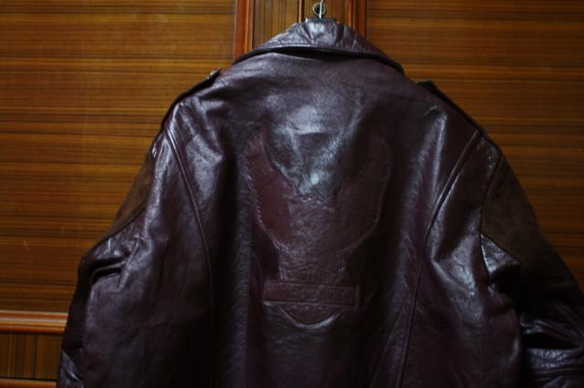 希少 変型 小の字 70s ビンテージ 希少 カラー UK ロンジャン レザー ライダース ジャケット ■ ■ ハーレー ラロッカ PUNK 666 カンプリ_画像4