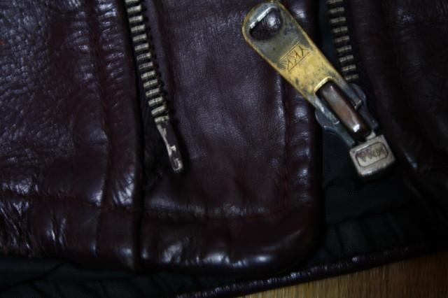 希少 変型 小の字 70s ビンテージ 希少 カラー UK ロンジャン レザー ライダース ジャケット ■ ■ ハーレー ラロッカ PUNK 666 カンプリ_刺す方少しダメージあり。使用に問題なし。