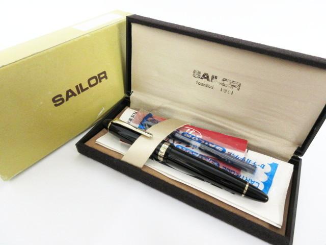 恐らく未使用品です SAILOR セーラー PROFIT プロフィット 万年筆 ペン先 21K 1911 付属品多数 当時品_画像10