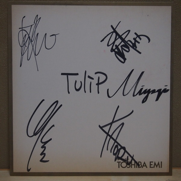 即決 A 4999円 直筆サイン色紙 チューリップ TULIP 財津和夫 東芝EMI 当時物_画像1