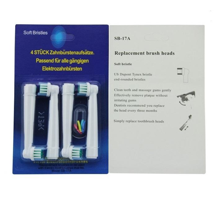 電動歯ブラシ 互換性 替えブラシ 4本セット ブラウン オーラルB SB-17A (4本×2個セット/A01586-2)