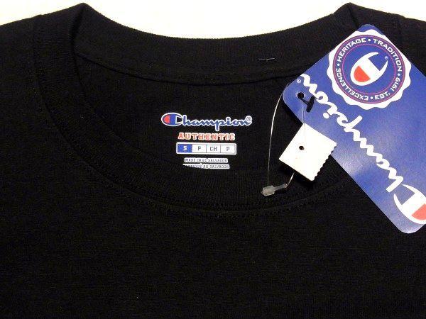 新品 16SS Supreme x Champion L/S Tee Sサイズ スリーブ FTP ロゴ チャンピオン 長袖 Tシャツ Black 黒_画像4