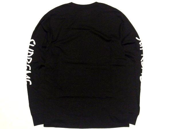 新品 16SS Supreme x Champion L/S Tee Sサイズ スリーブ FTP ロゴ チャンピオン 長袖 Tシャツ Black 黒_画像3