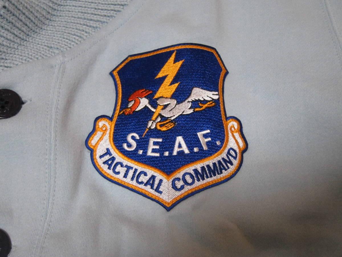 世田谷ベース正式装備品 S.E.A.F ショールカラー・スウェットカーディガン Lサイズ スカジャン _画像3