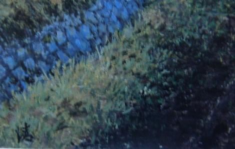 菅原清【白川郷秋景】希少画集画、状態良好、新品高級額装付、送料無料、洋画 油彩 風景_画像5