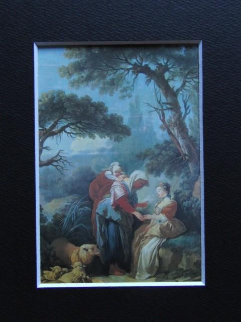 フランソワ ブーシェ、【占師】、希少画集より、状態良好、新品高級額装付、絵画 送料無料_画像3
