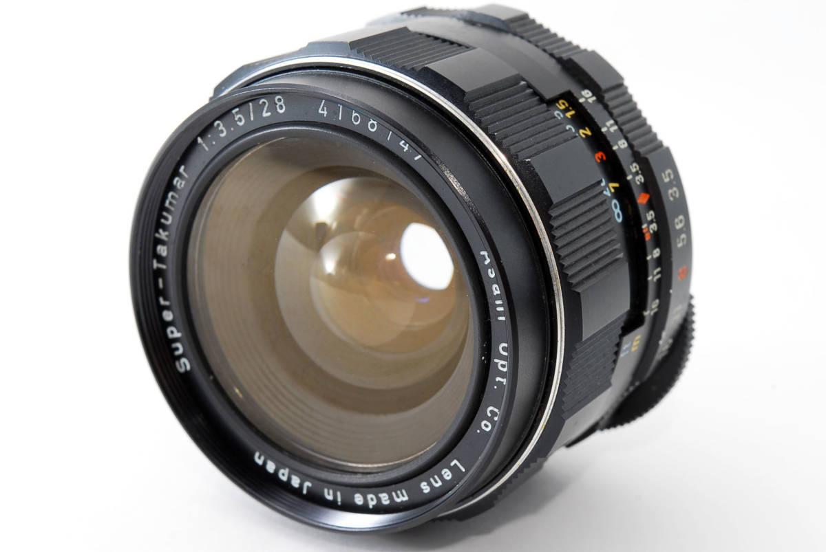 【人気の単焦点レンズ 28mm】 PENTAX ペンタックス  SUPER-TAKUMAR 28mm f3.5 動作快調 カメラ 同梱可能 #2941_画像1