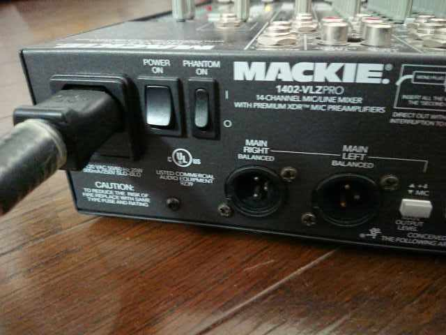 USA製!音が良い!MACKIE 1402-VLZ Pro 14ch アナログミキサー マッキー_画像6