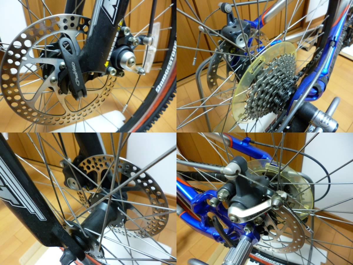 ブリヂストン サイクル スラッガー SD1240 スタンド ダウンヒル マウンテンバイク MTB Wサスペンション ディスクブレーキ_画像7