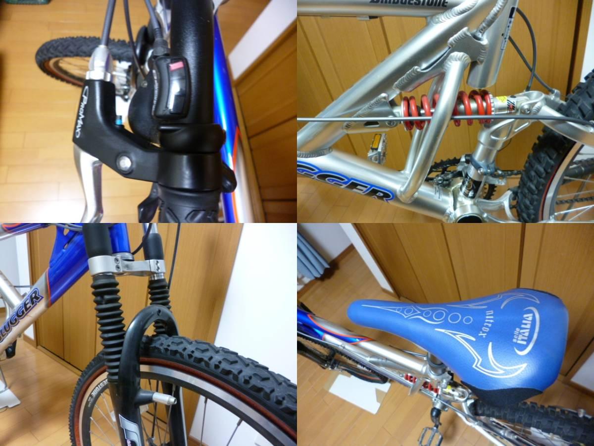 ブリヂストン サイクル スラッガー SD1240 スタンド ダウンヒル マウンテンバイク MTB Wサスペンション ディスクブレーキ_画像6