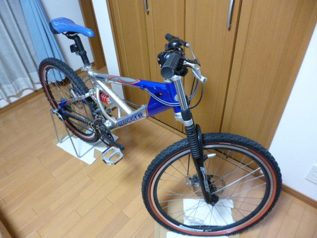 ブリヂストン サイクル スラッガー SD1240 スタンド ダウンヒル マウンテンバイク MTB Wサスペンション ディスクブレーキ_画像4