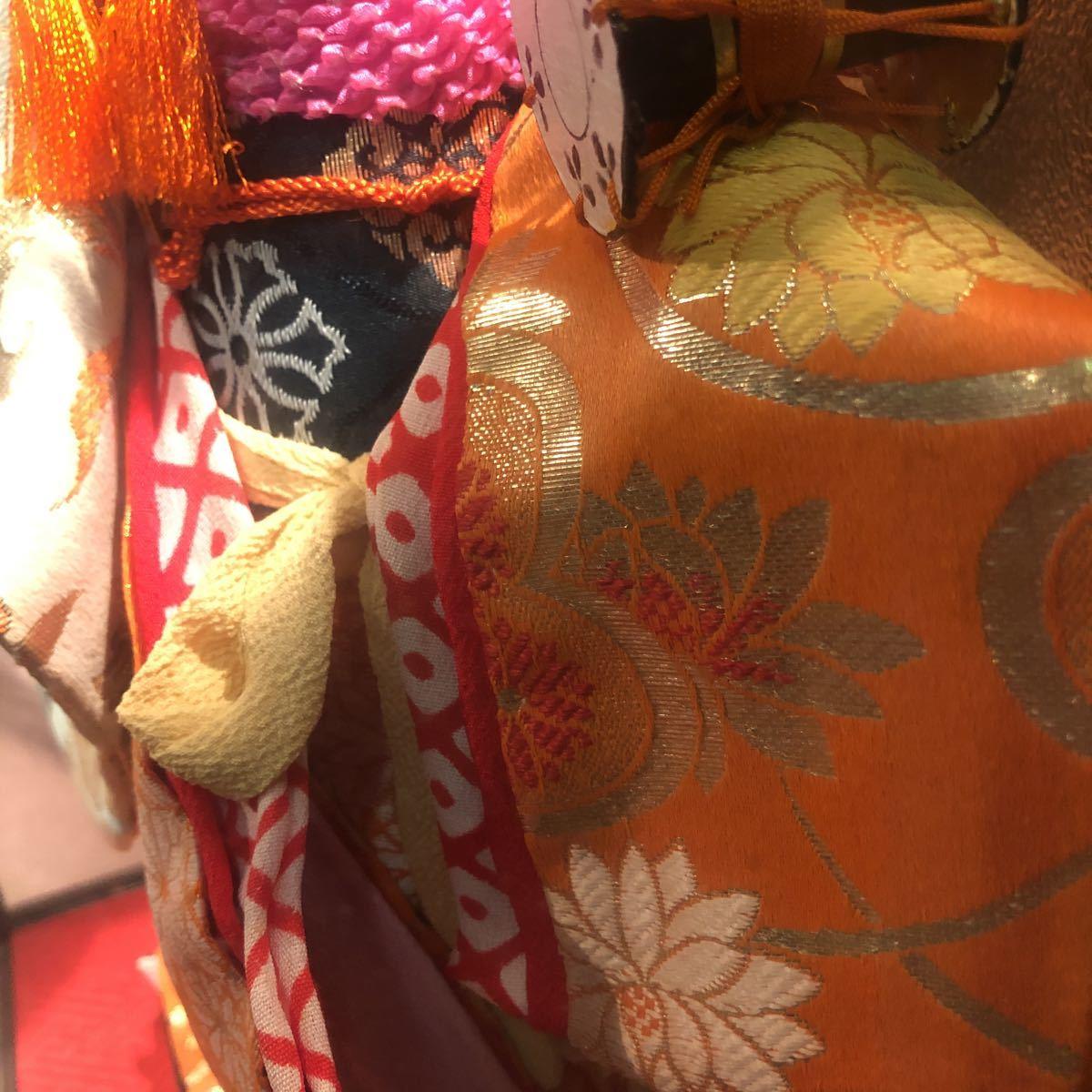3283 浅妻 古い レトロ 日本人形 ガラスケースつき 昭和レトロ アンティーク 幅29cm高さ43cm奥行き24cm_画像8