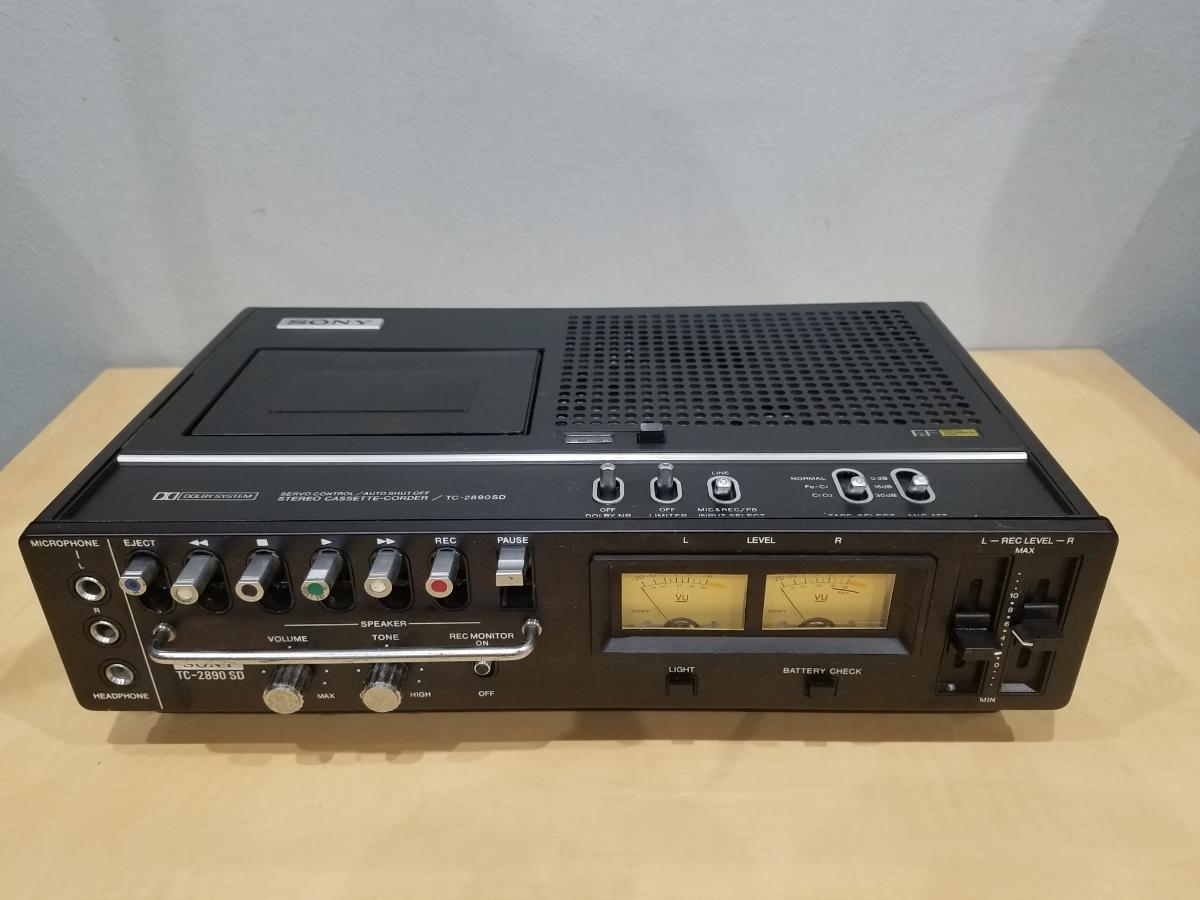 昭和 レトロ SONY TC-2890SD ソニー カセット デンスケ テープデッキ プレーヤー ジャンク扱中古品
