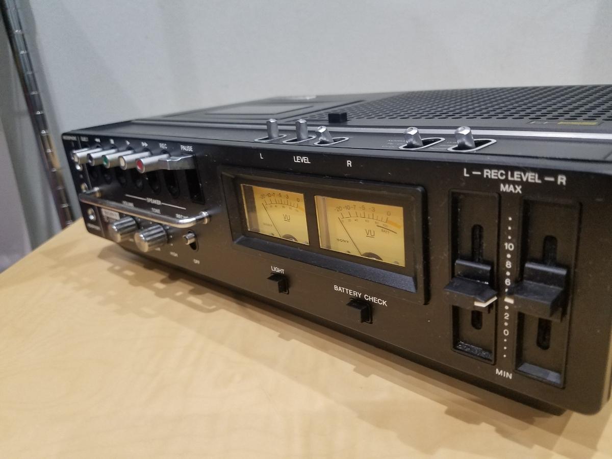 昭和 レトロ SONY TC-2890SD ソニー カセット デンスケ テープデッキ プレーヤー ジャンク扱中古品_画像5