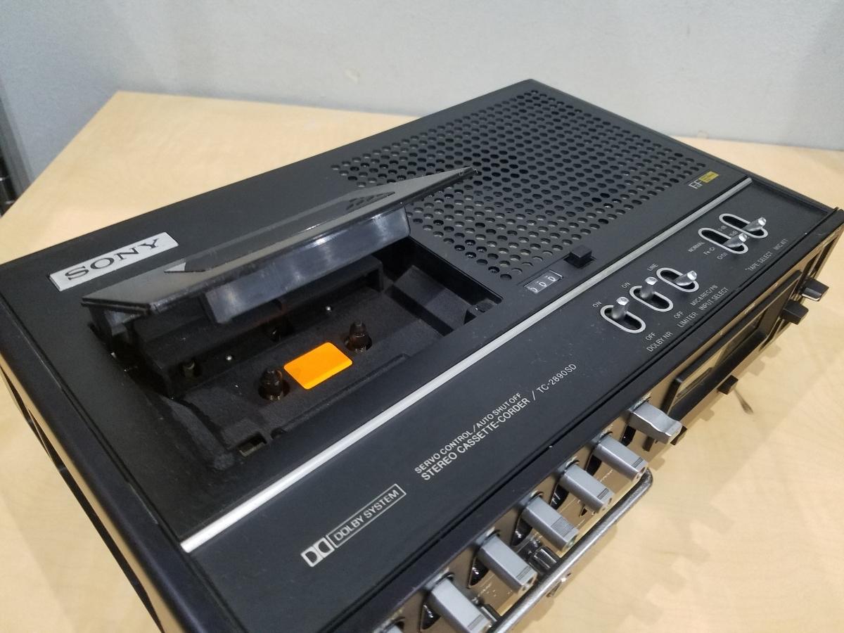 昭和 レトロ SONY TC-2890SD ソニー カセット デンスケ テープデッキ プレーヤー ジャンク扱中古品_画像3