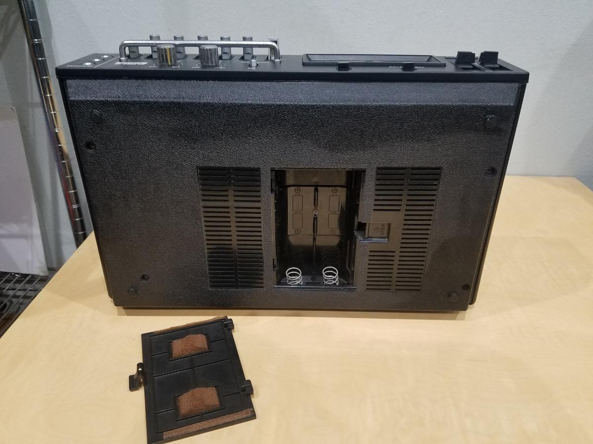昭和 レトロ SONY TC-2890SD ソニー カセット デンスケ テープデッキ プレーヤー ジャンク扱中古品_画像9
