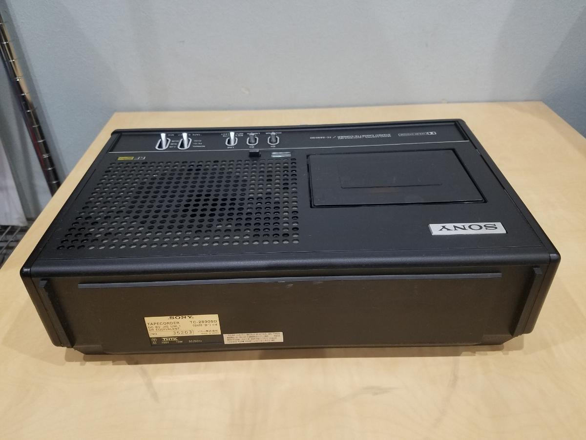 昭和 レトロ SONY TC-2890SD ソニー カセット デンスケ テープデッキ プレーヤー ジャンク扱中古品_画像7