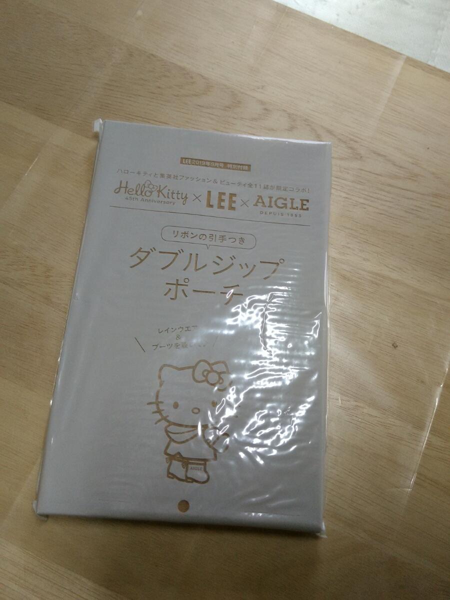 新品未開封 LEE 9月号 雑誌付録 ハローキティ45th Eagle ダブルジップポーチ_画像4
