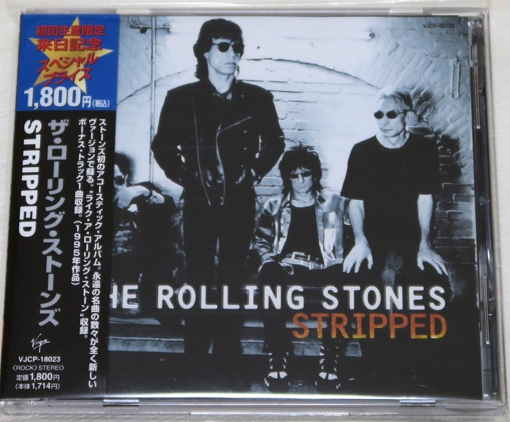 ◇ CD ザ・ローリング・ストーンズ The Rolling Stones STRIPPED 初回限定 日本盤 帯付き ボーナストラック VJCP-18023 新品同様 ◇_画像1
