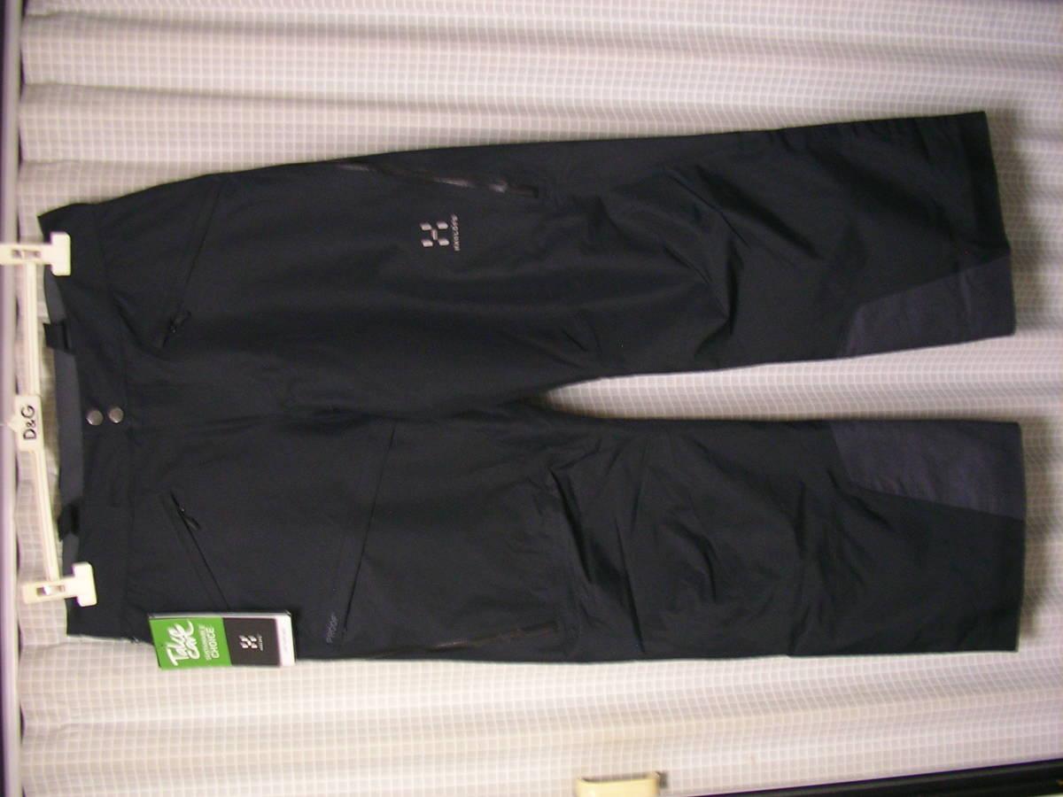 新品!HAGLOFSホグロフス LINE PANT 602981 M 黒 フリーライドスキースノーボードパンツskiバックカントリー_画像1