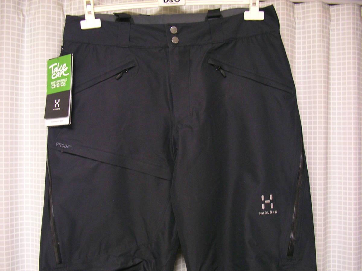 新品!HAGLOFSホグロフス LINE PANT 602981 M 黒 フリーライドスキースノーボードパンツskiバックカントリー_画像2