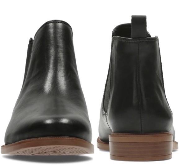 Clarks 22.5cm サイドゴア ブーツ ブラック 黒 チェルシー レザー 革 アンクル ブーティー ローファー バレエ スニーカー パンプス AC17_画像7