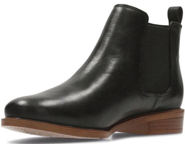 Clarks 22.5cm サイドゴア ブーツ ブラック 黒 チェルシー レザー 革 アンクル ブーティー ローファー バレエ スニーカー パンプス AC17_画像9