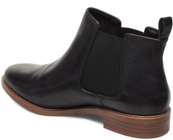 Clarks 22.5cm サイドゴア ブーツ ブラック 黒 チェルシー レザー 革 アンクル ブーティー ローファー バレエ スニーカー パンプス AC17_画像3