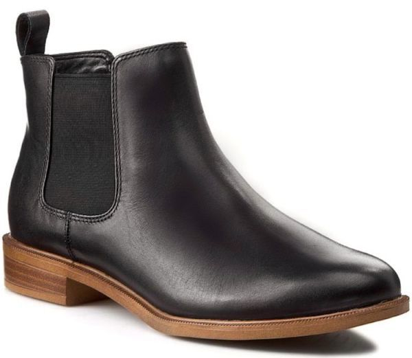 Clarks 22.5cm サイドゴア ブーツ ブラック 黒 チェルシー レザー 革 アンクル ブーティー ローファー バレエ スニーカー パンプス AC17_画像1