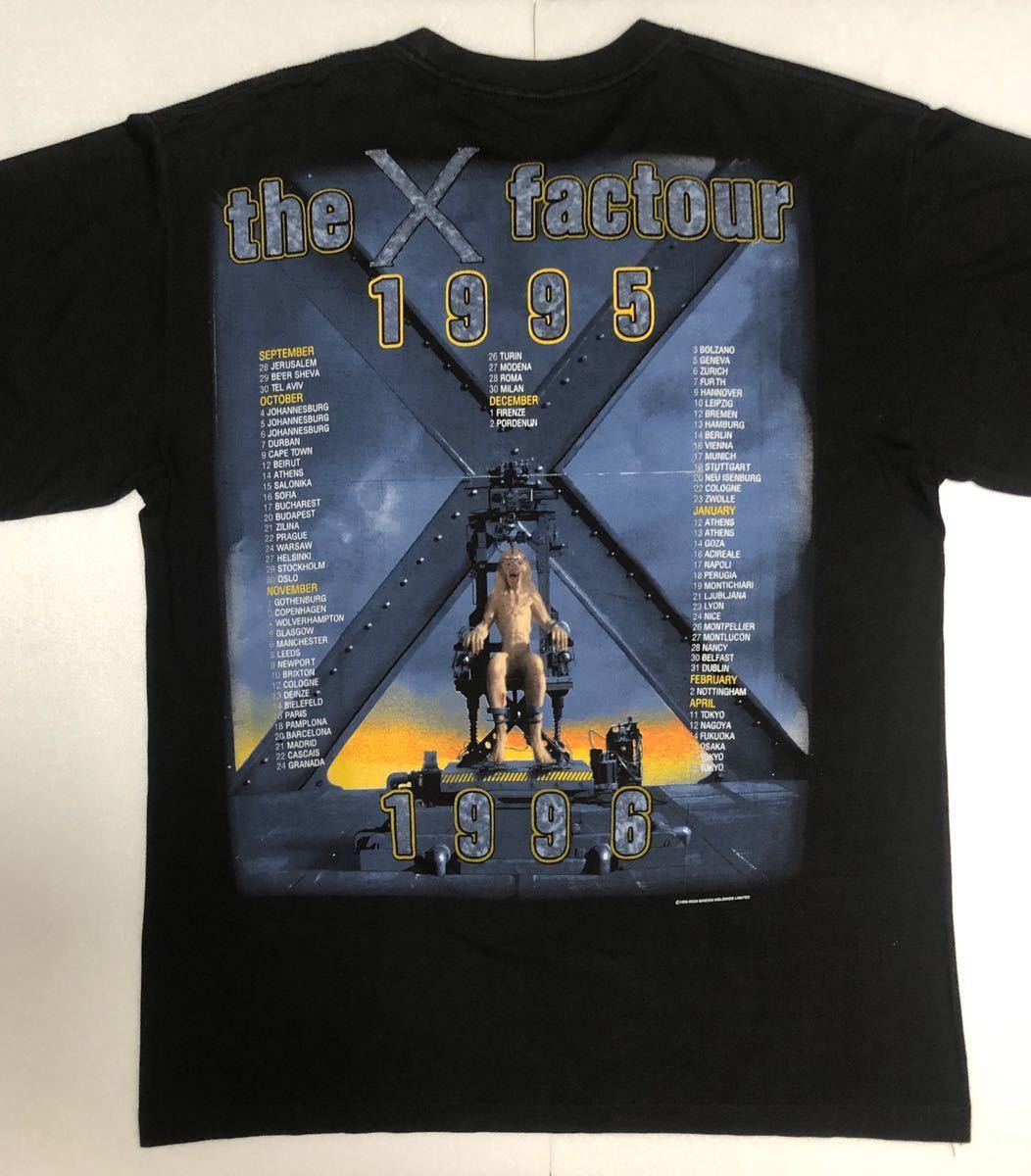 90s 95-96年 ツアー IRON MAIDEN アイアンメイデン ビンテージ Tシャツ 黒 オリジナル メタル ロック バンド tシャツ レア コピーライト_画像7