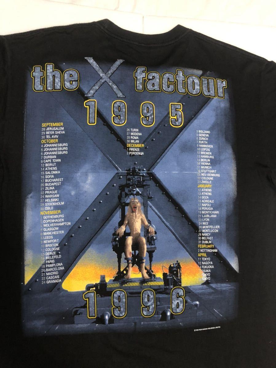 90s 95-96年 ツアー IRON MAIDEN アイアンメイデン ビンテージ Tシャツ 黒 オリジナル メタル ロック バンド tシャツ レア コピーライト_画像8