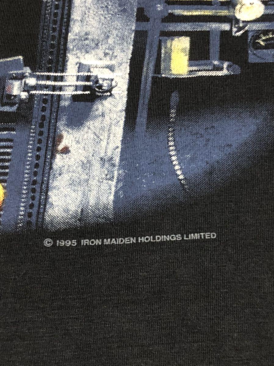 90s 95-96年 ツアー IRON MAIDEN アイアンメイデン ビンテージ Tシャツ 黒 オリジナル メタル ロック バンド tシャツ レア コピーライト_画像4