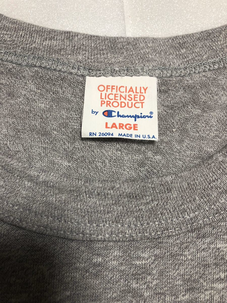 美品! 80s~ USA製 champion チャンピオン ビンテージ tシャツ オフィシャルTシャツ グレー L NFL ニューヨークジャイアンツ 90s トリコタグ_画像5