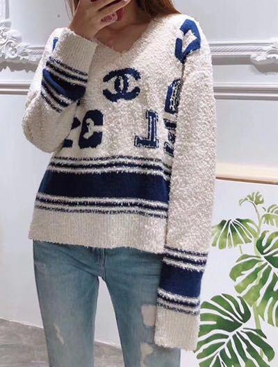 Chanel シャネル 長袖セーター ニット 36/Mサイズ相当 イタリア製_画像9