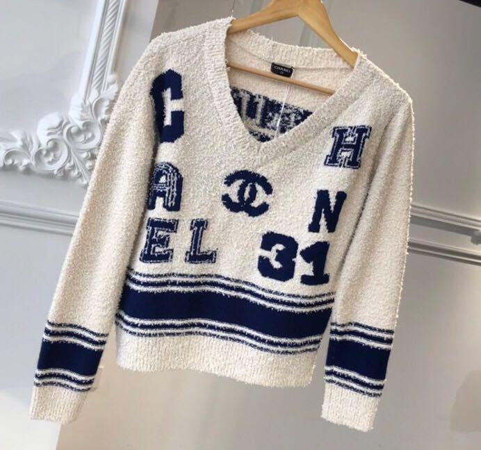 Chanel シャネル 長袖セーター ニット 36/Mサイズ相当 イタリア製